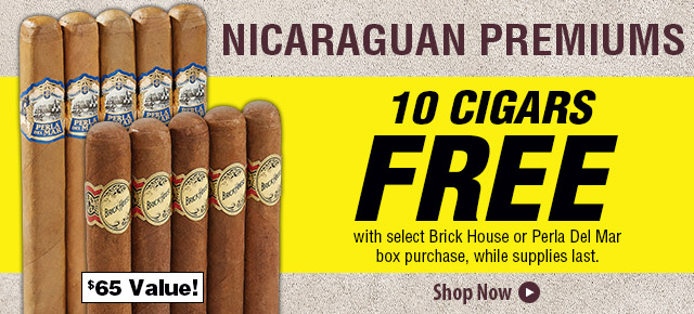 10 FREE Cigars w/ Select Box Purchase