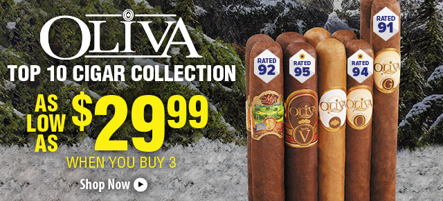 Buy More, Save More on Oliva Top 10 Cigar Collection!
