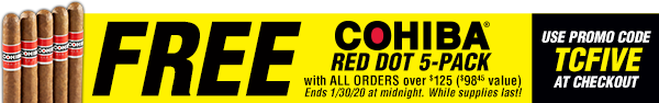 Free Cohiba Red Dot 5-Pack On Order $125+