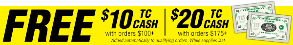 Get Free TC Cash On Your Order Today!