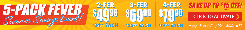 5-Pack Fever Summer Savings Event!