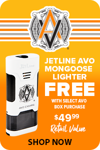 FREE Jetline Lighter w/ Select AVO Boxes