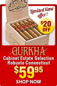 Gurkha Cabinet Estate Selection $20 OFF- Only $59.95
