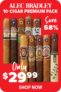 SAVE Nearly 60% On this 10-Cigar Alec Bradley Sampler!