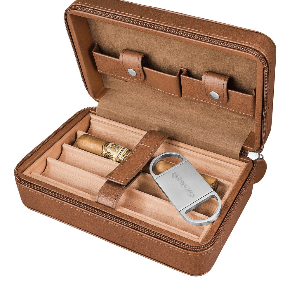 photo of La Palina Travel Humidor With Cutter - Cigar Accessory Sampler by Thompson Cigar