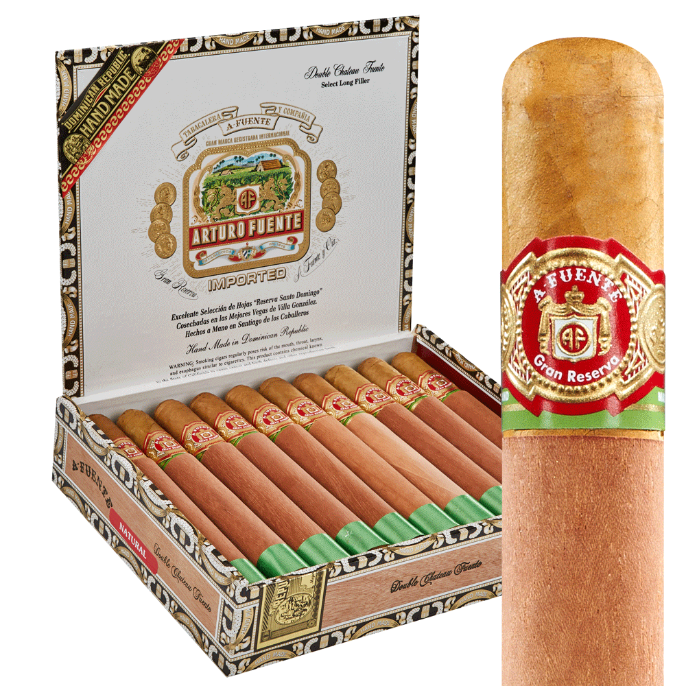 photo of Arturo Fuente Chateau Series Double Chateau Toro Natural - BOX (20) by Thompson Cigar