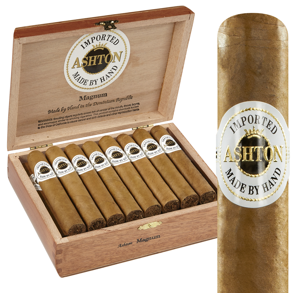 photo of Ashton Classic Magnum Connecticut Robusto - PACK (10) by Thompson Cigar
