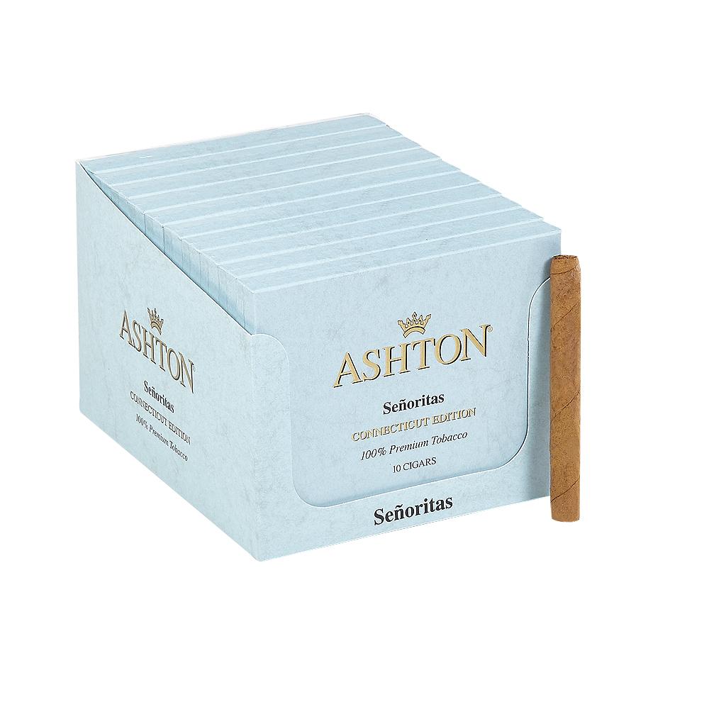 Ashton Classic Senorita Connecticut Cigarillo - PACK (100) photo - CALIFORNIA SHEETS