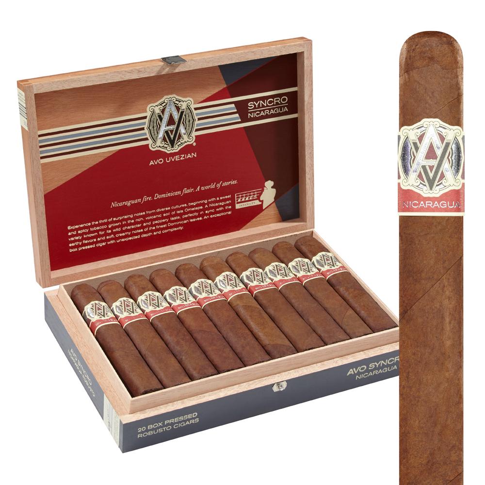photo of AVO Syncro Nicaragua Robusto Ecuador Box Pressed - BOX (20) by Thompson Cigar