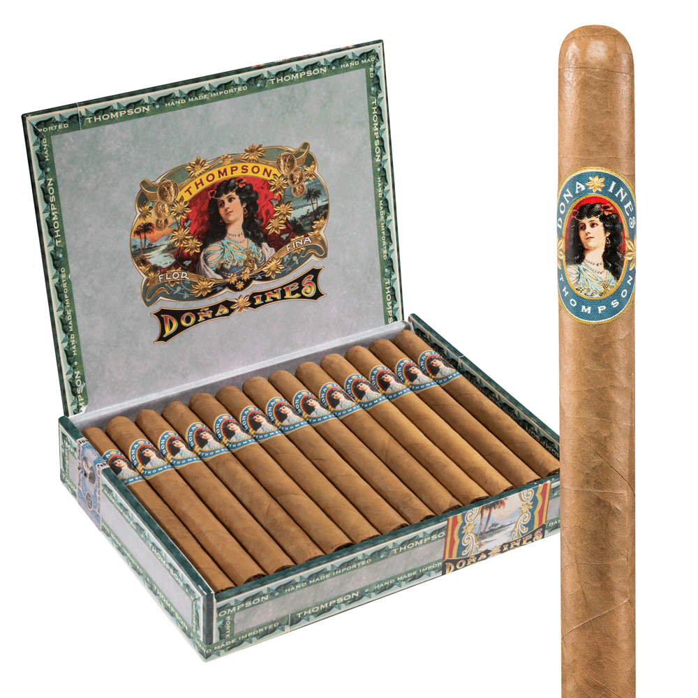 photo of Dona Ines Lonsdale Connecticut - BOX (25) by Thompson Cigar