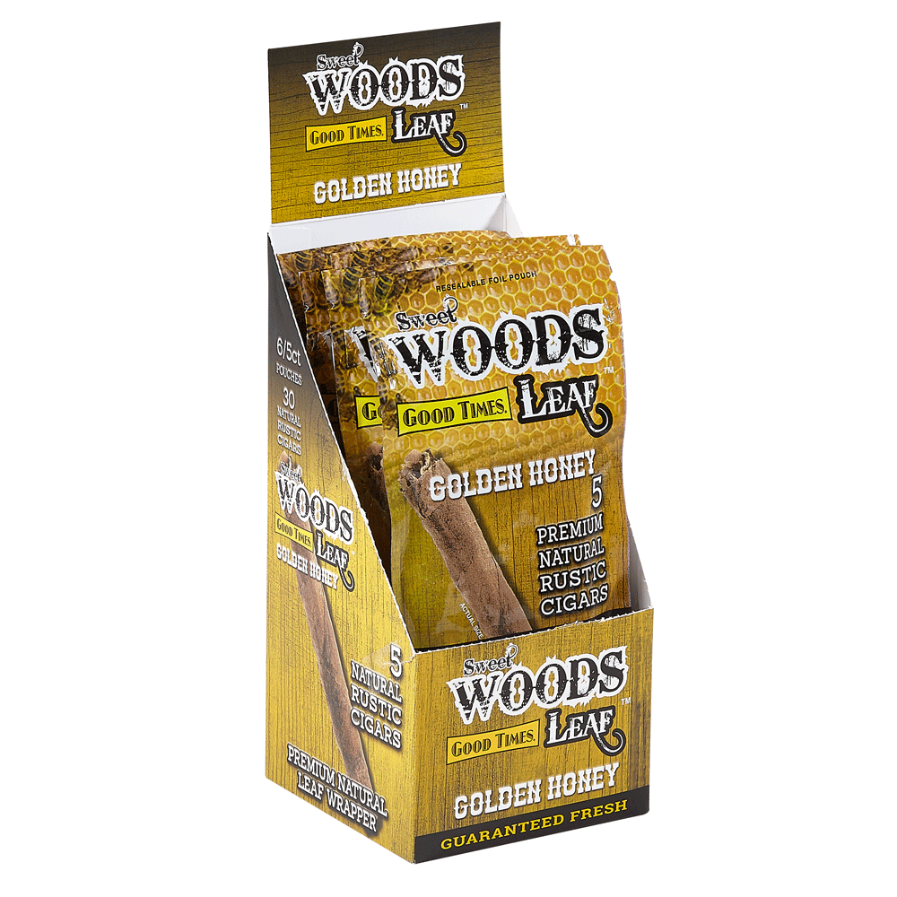 photo of Good Times Sweet Woods Sweet Woods Cheroots - Golden Honey - BOX (30) by Thompson Cigar