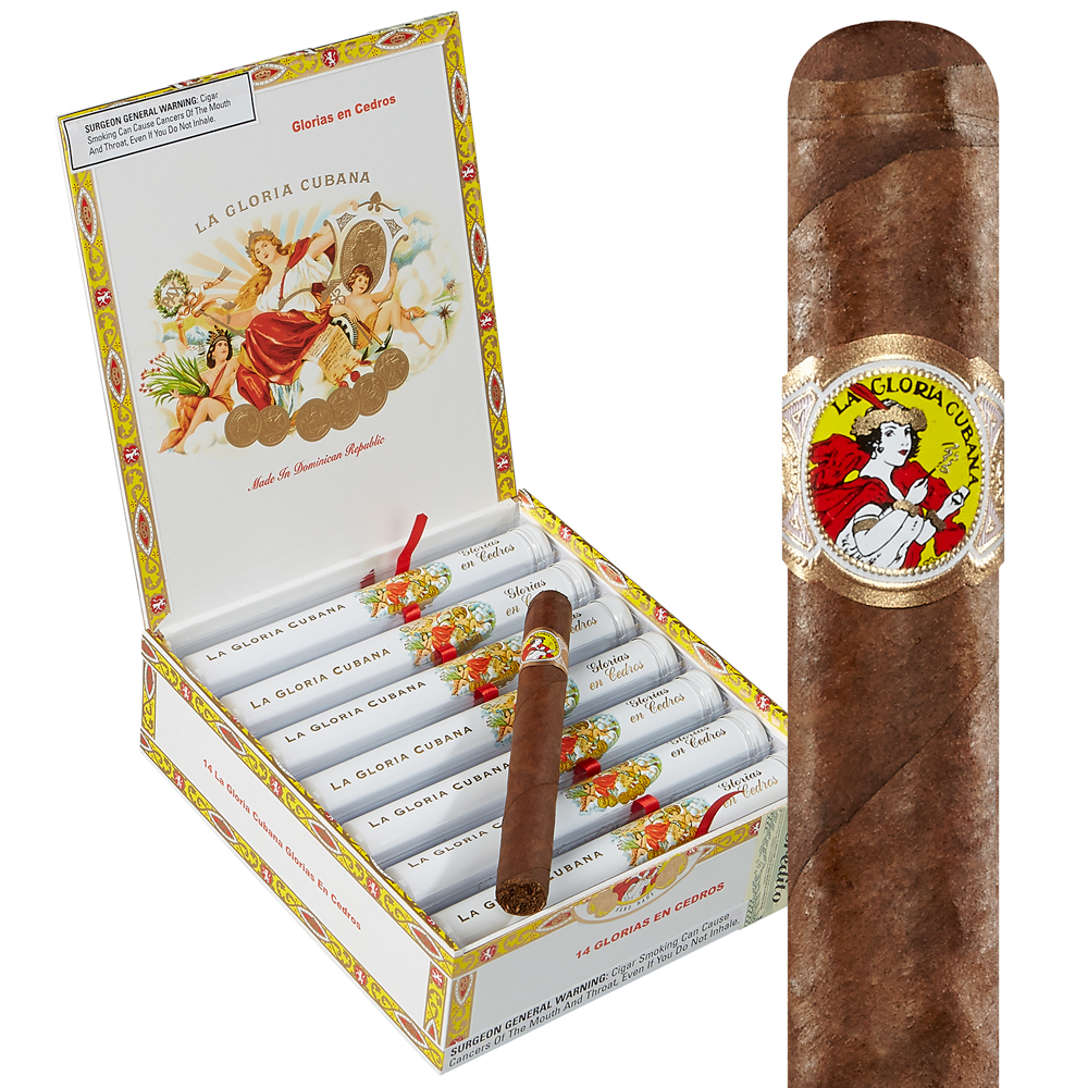 photo of La Gloria Cubana En Cedro Natural Lonsdale Grande - BOX (14) by Thompson Cigar