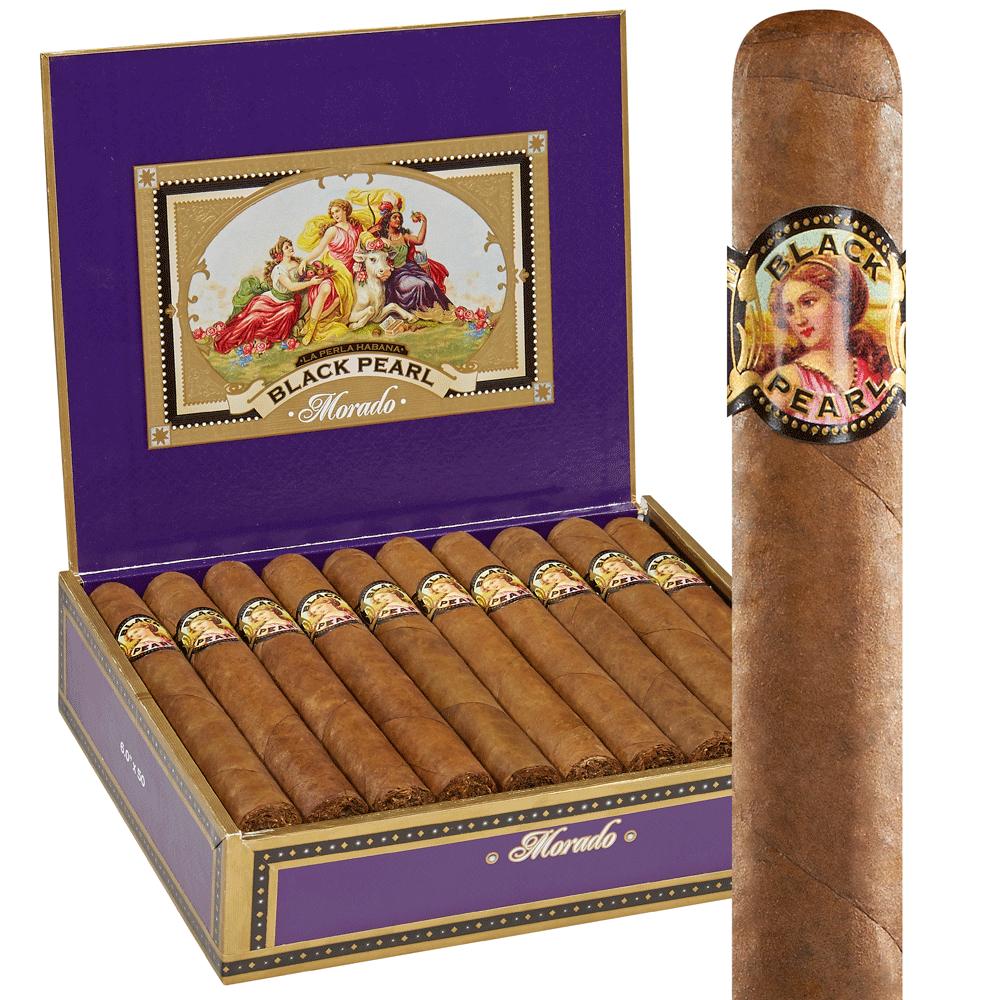photo of La Perla Habana Black Pearl Morado Toro Cameroon - BOX (20) by Thompson Cigar