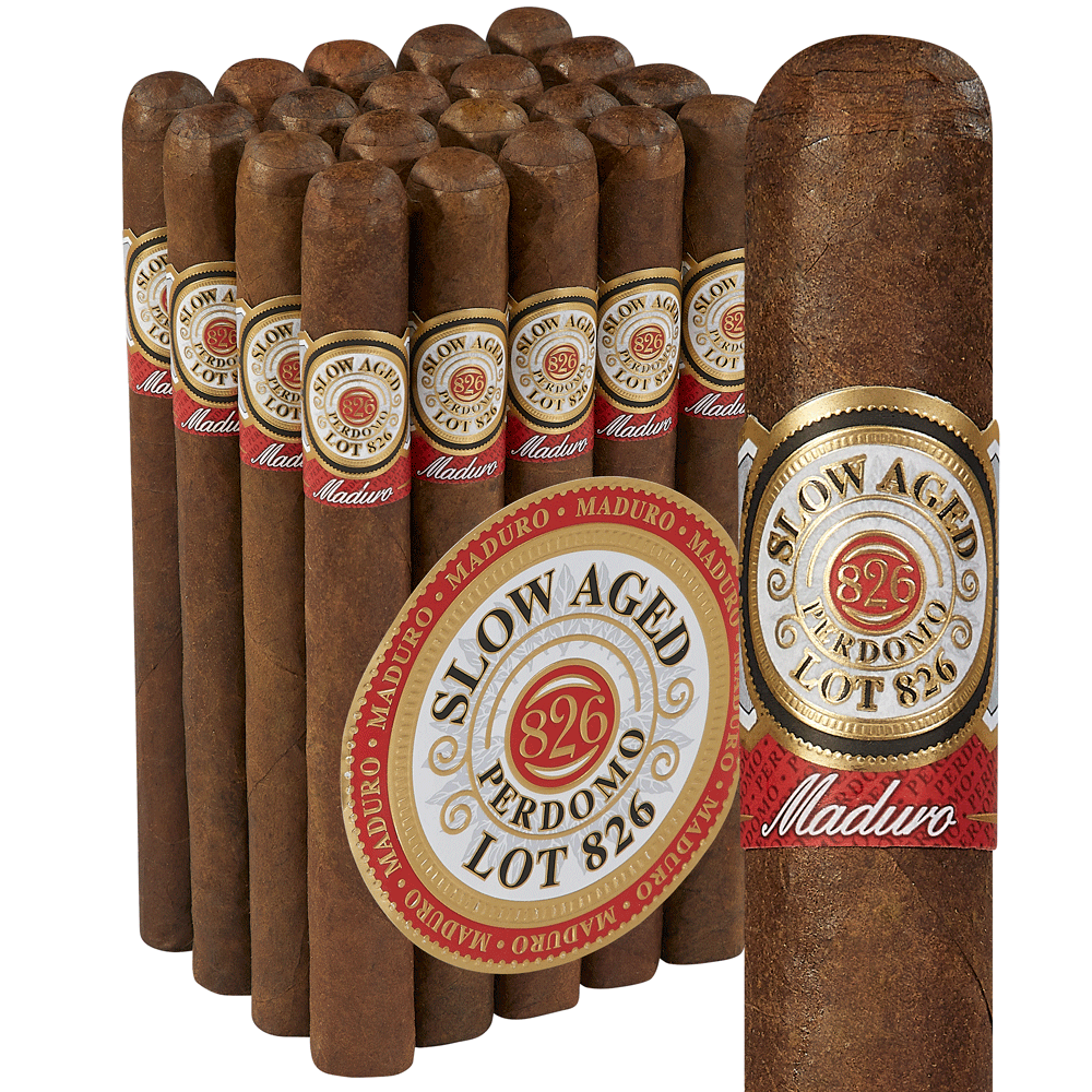 Perdomo 826 Slow-Aged Glorioso Maduro - Pack of 20 photo - CALIFORNIA SHEETS