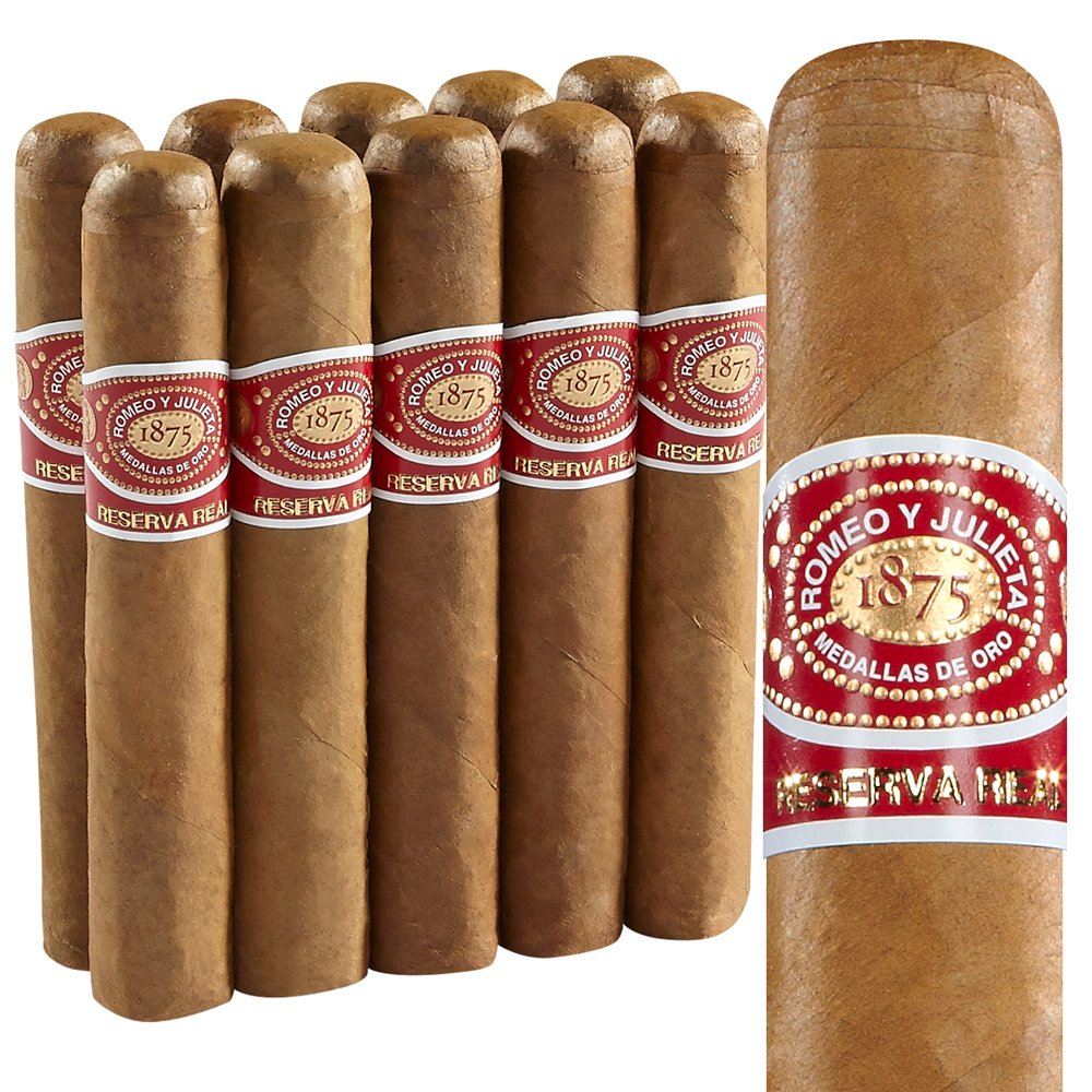 photo of Romeo y Julieta Reserva Real Robusto Connecticut - PACK (10) by Thompson Cigar
