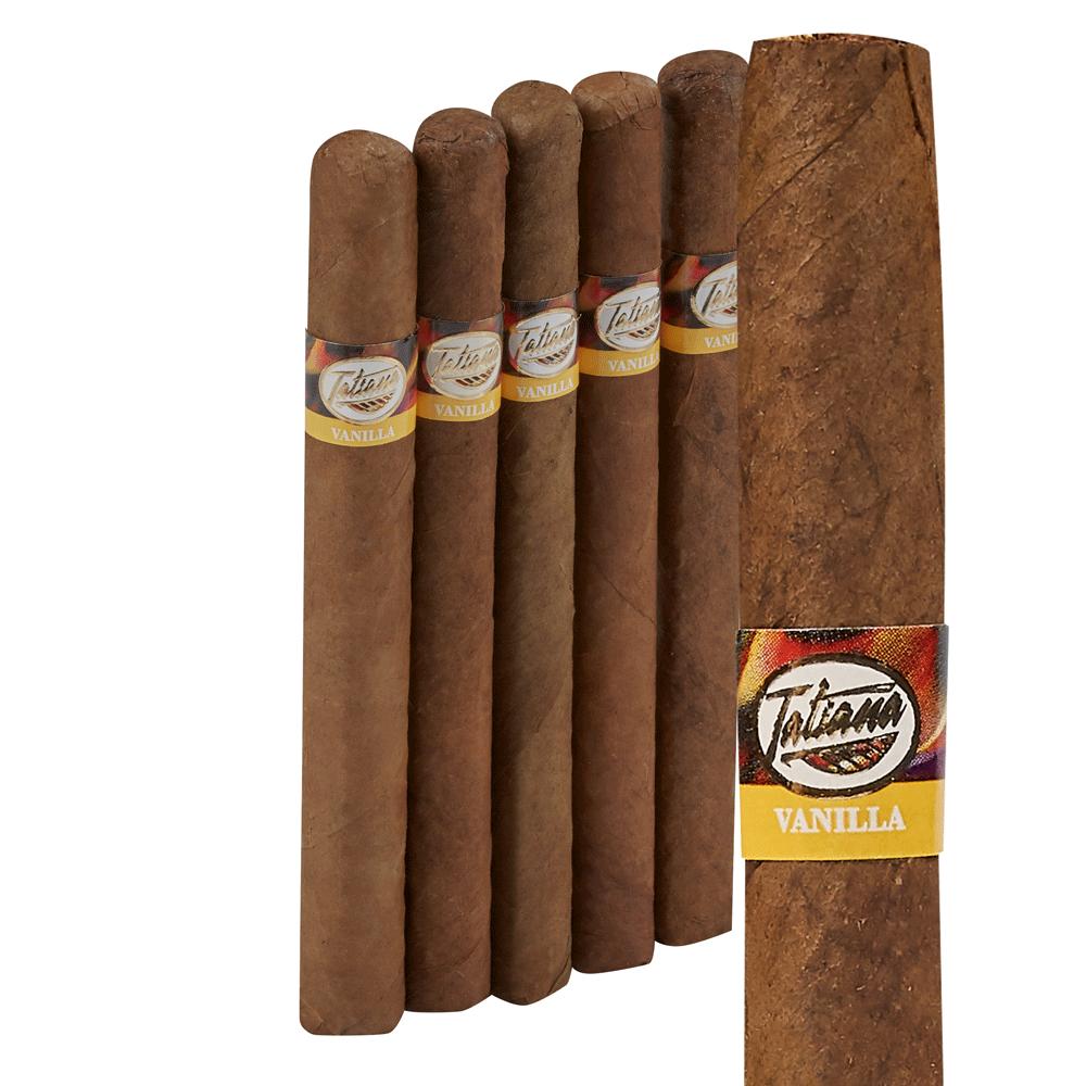 photo of Tatiana Flavored Classic Corona Vanilla - PACK (5) by Thompson Cigar