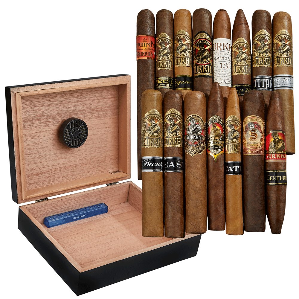 photo of Gourmet Gurkha Humidor Combo - 15 Cigars by Thompson Cigar