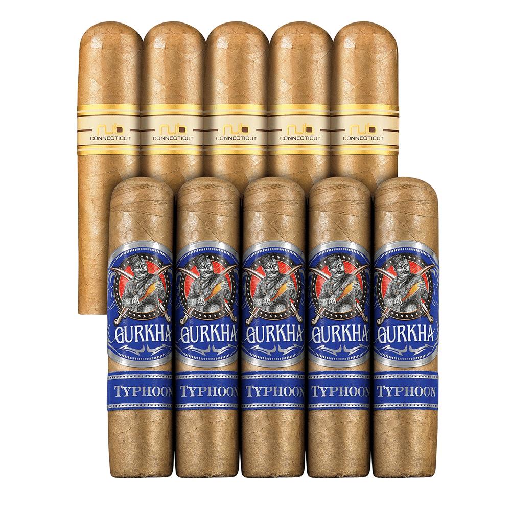 photo of Double Down Smooth To Medium 10 Connecticut Gordito Sampler Oliva VS Gurkha - SAMPLER (10) by Thompson Cigar