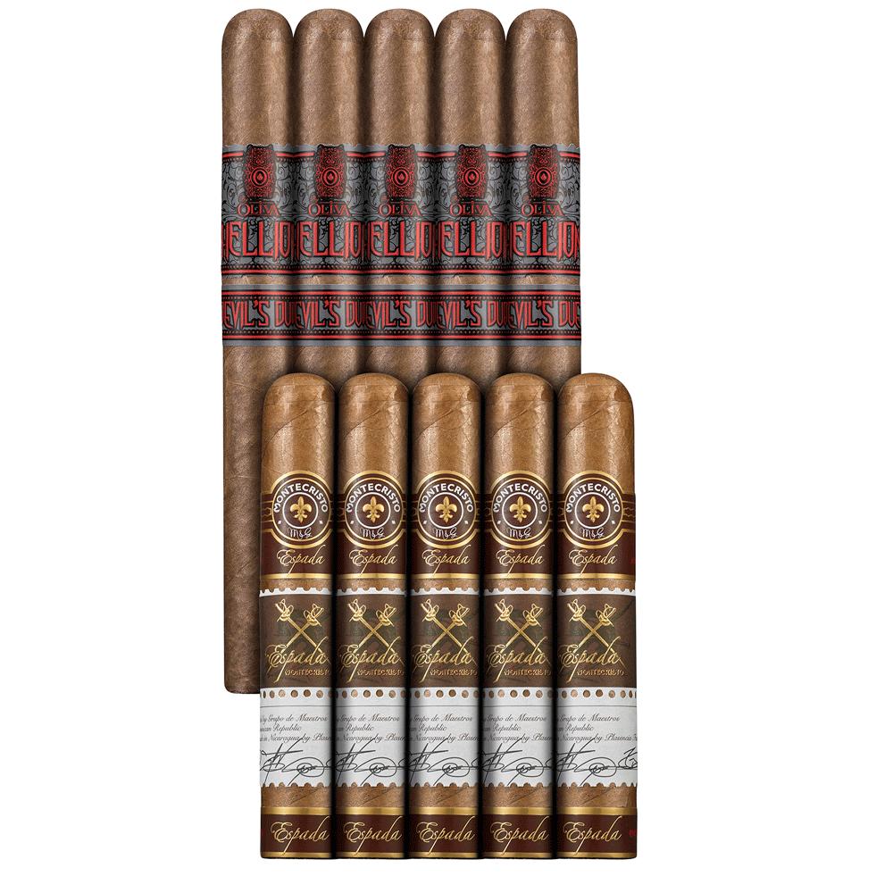 photo of Double Down Medium To Full 10 Habano Sampler Montecristo VS Oliva - SAMPLER (10) by Thompson Cigar