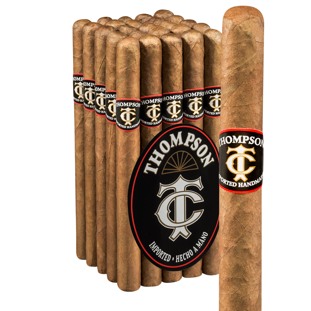 photo of Thompson Old Timer Lonsdale Natural - PACK (25) by Thompson Cigar