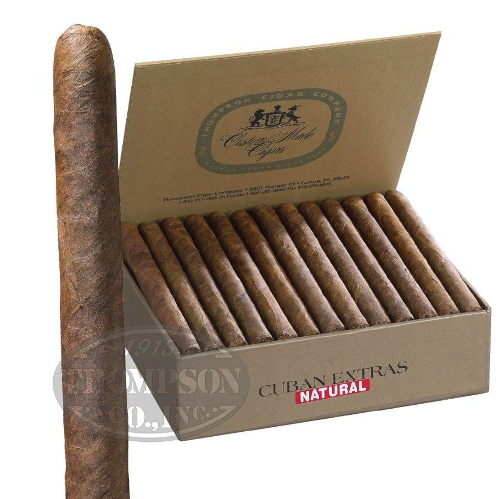 photo of Thompson Dominican Cuban Extras EMS Panetela - BOX (50) by Thompson Cigar