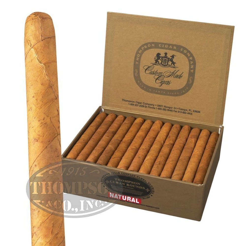 photo of Thompson Dominican Cuban Rounds Natural Lonsdale - BOX (50) by Thompson Cigar