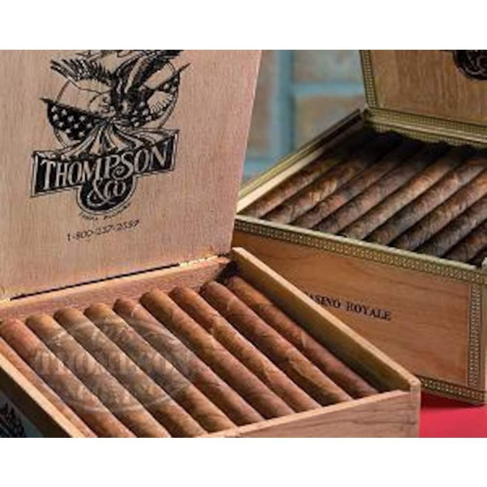photo of Thompson Dominican Tranquilo Vanilla Natural Gran Corona - BOX (50) by Thompson Cigar