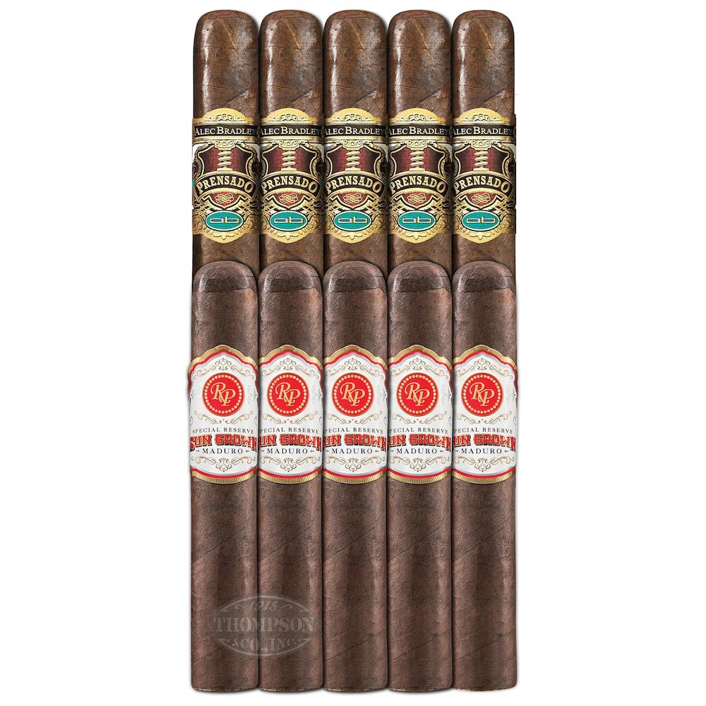 photo of Double Down 92 Rated 10 Sampler Rocky Patel VS Alec Bradley - SAMPLER (10) by Thompson Cigar