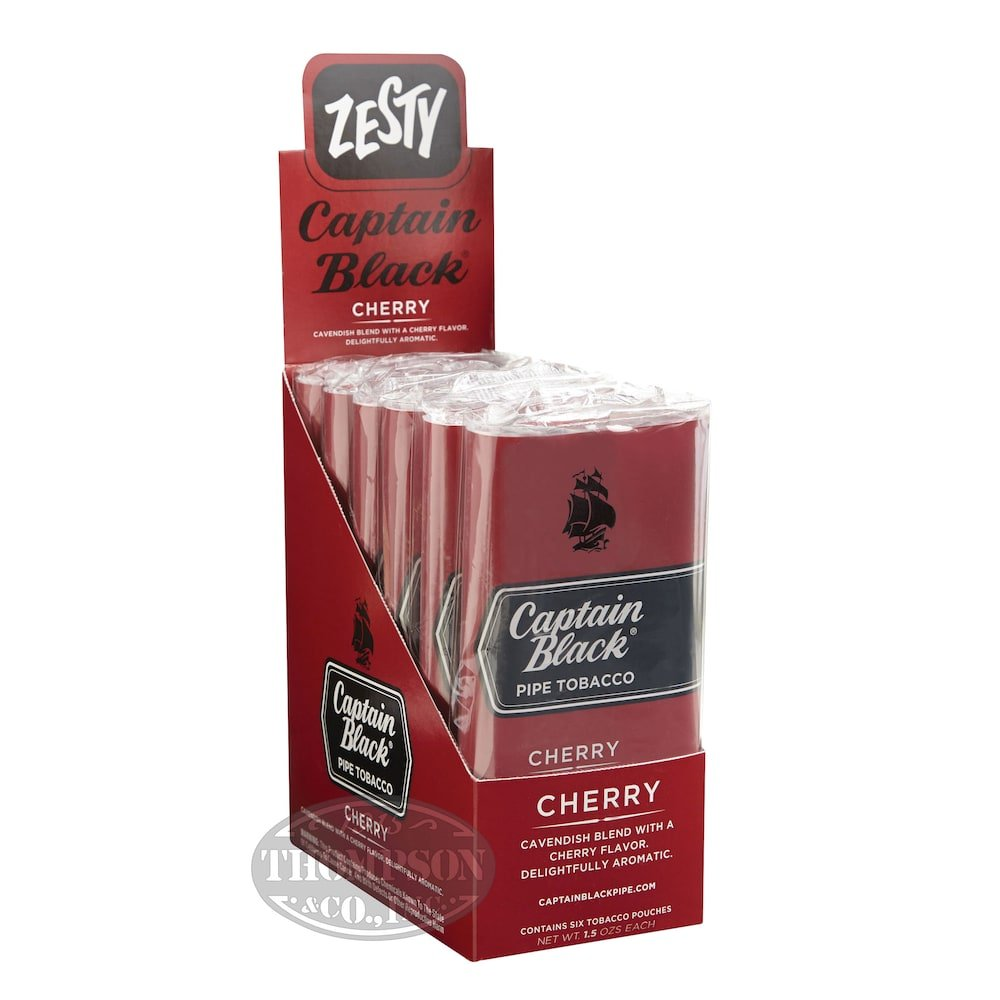 photo of Captain Black Cherry Pipe Tobacco Pouch - 1.5 Ounce Pouch by Thompson Cigar