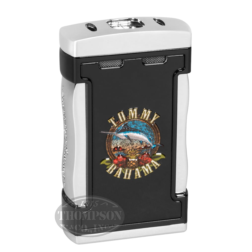 photo of Tommy Bahama Cigar Band Table Top Quad Torch Lighter - Black by Thompson Cigar