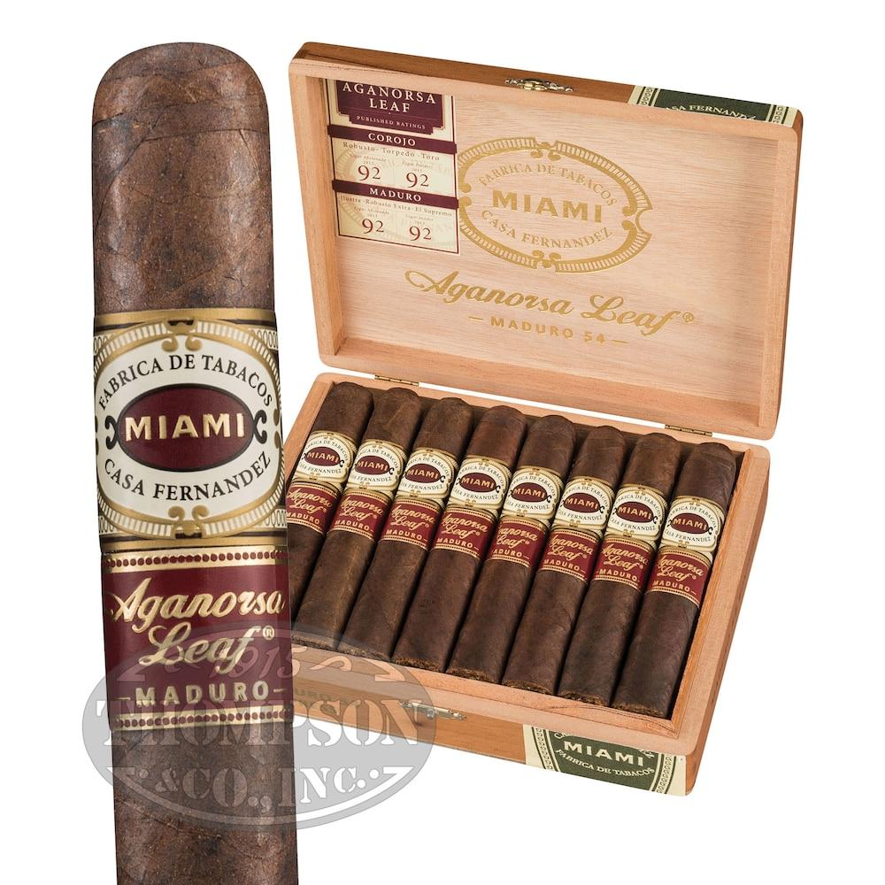 photo of Casa Fernandez Aganorsa Leaf Box-Pressed El Supremo Gordo Maduro - BOX (15) by Thompson Cigar