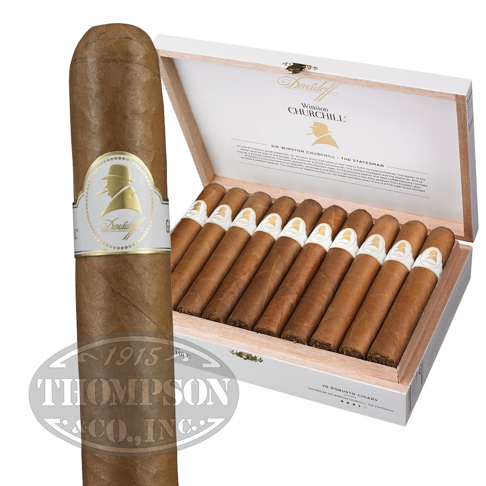 photo of Davidoff Winston Churchill Robusto Habano - BOX (20) by Thompson Cigar