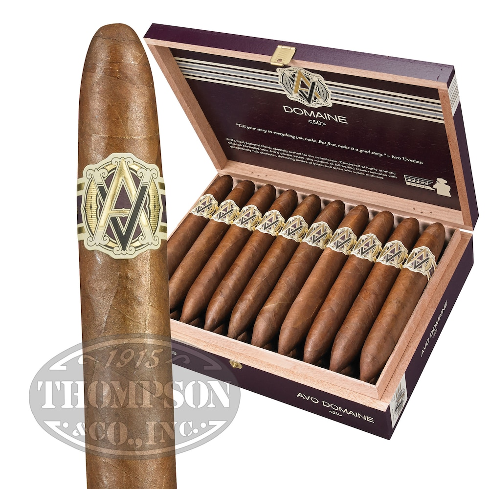 photo of AVO Domaine # 50 Connecticut Perfecto - BOX (20) by Thompson Cigar