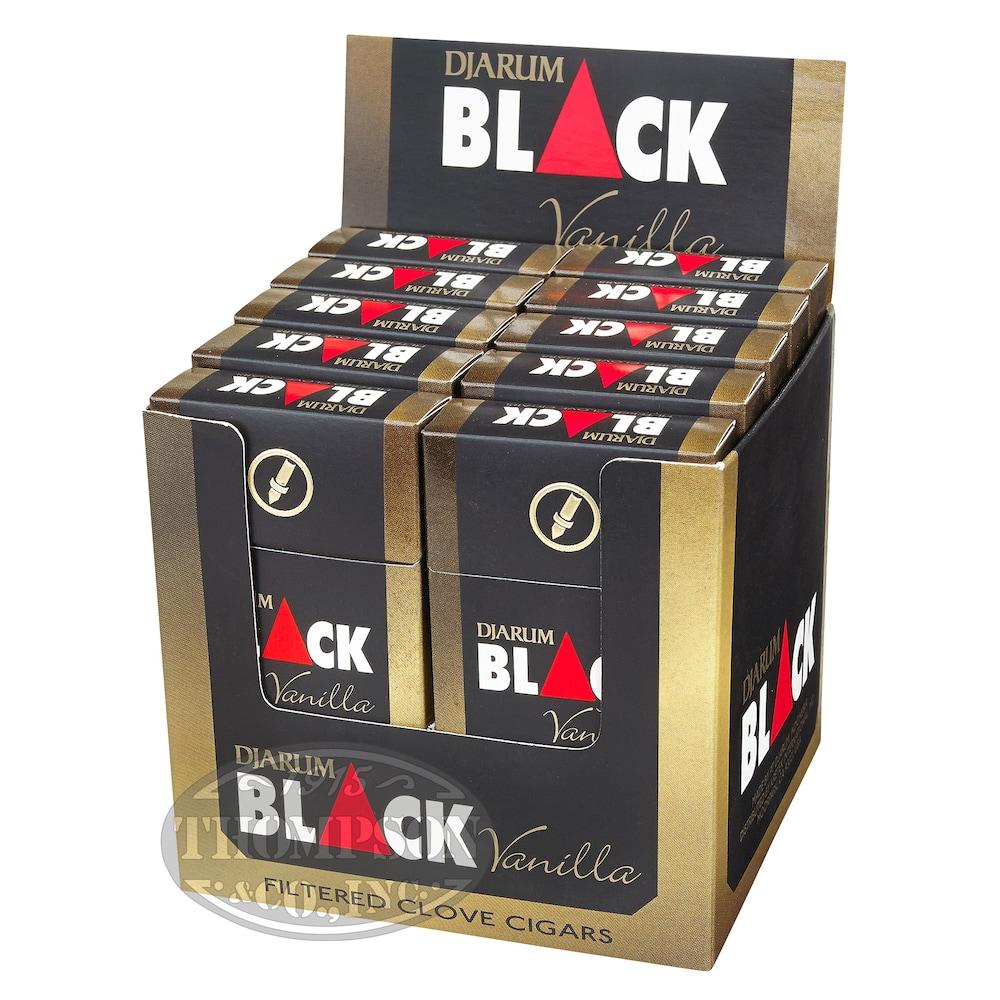 photo of Djarum Black Ivory Natural Filtered Cigarillo Vanilla 2-Fer - PACK (240) by Thompson Cigar