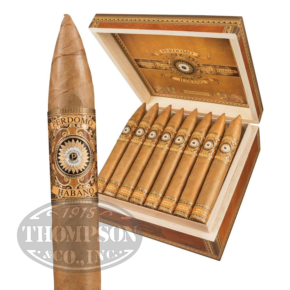 photo of Perdomo Habano Bourbon Barrel Aged Torpedo Connecticut - BOX (24) by Thompson Cigar
