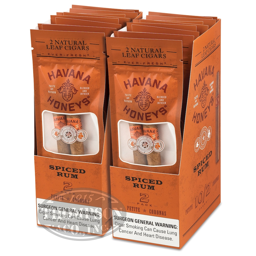 photo of Havana Honey Cigarillo Natural Spiced Rum Spiced Rum - PACK (20) by Thompson Cigar