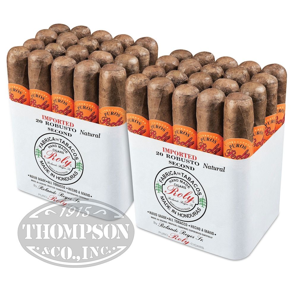 photo of Roly Seconds Robusto Colorado 2-Fer - PACK (40) by Thompson Cigar
