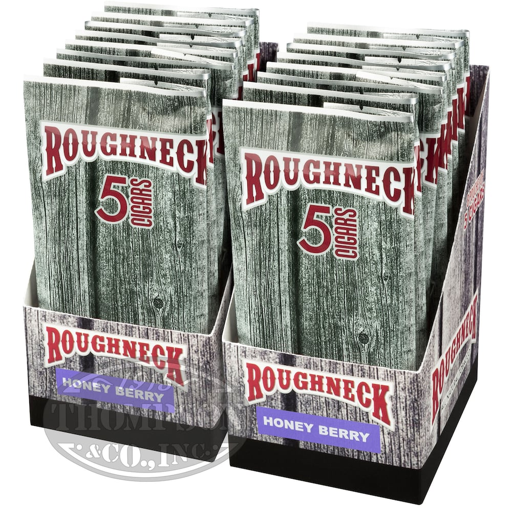photo of Roughneck Tips Cheroot Natural Honey Berry 2-Fer - PACK (80) by Thompson Cigar