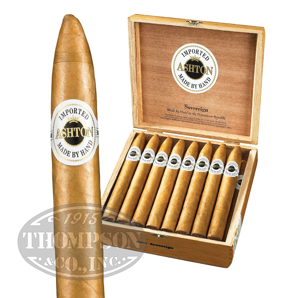 photo of Ashton Classic Sovereign Connecticut Torpedo - PACK (10) by Thompson Cigar