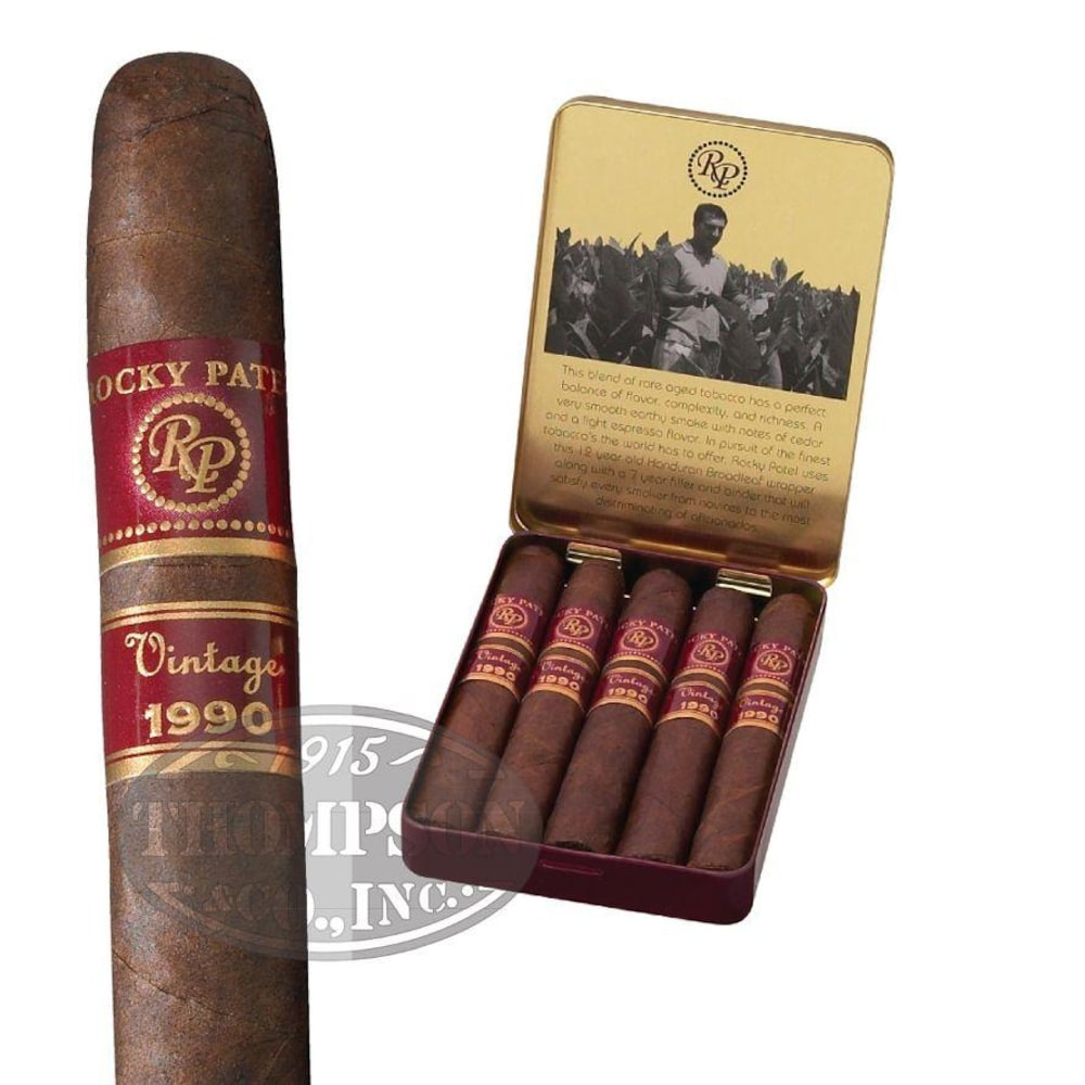 photo of Rocky Patel Vintage 1990 Juniors Natural Cigarillo - PACK (5) by Thompson Cigar