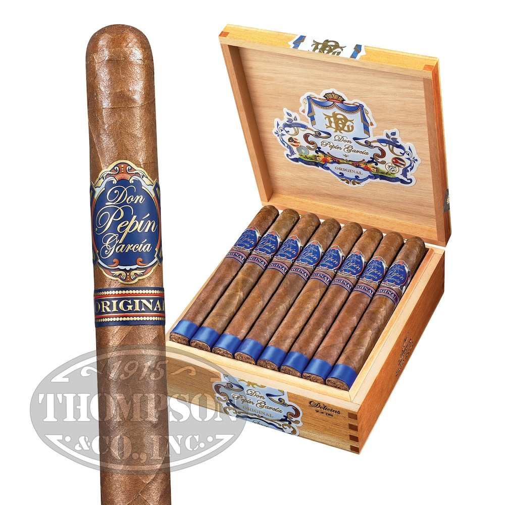 photo of Don Pepin Garcia Blue Label Delicias Corojo Churchill - BOX (24) by Thompson Cigar