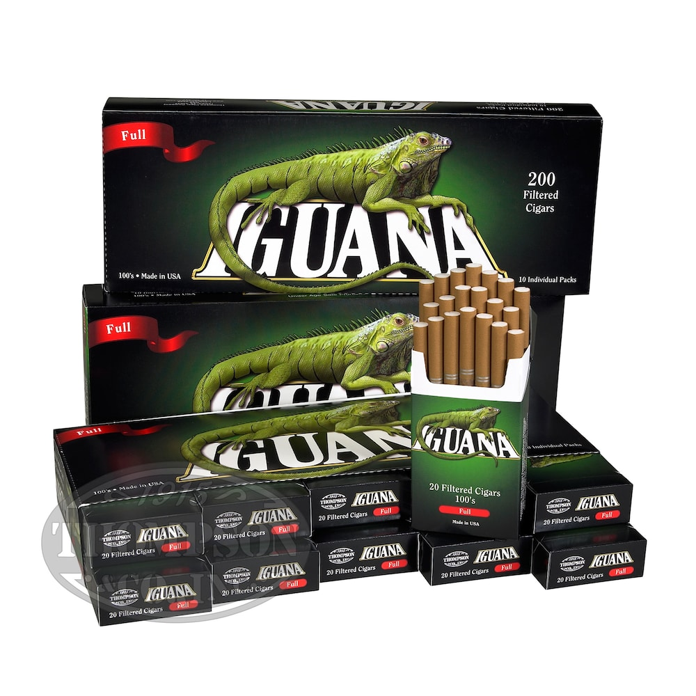 photo of Iguana Little Cigars Filtered Full Natural 5-Fer - PACK (1000) by Thompson Cigar