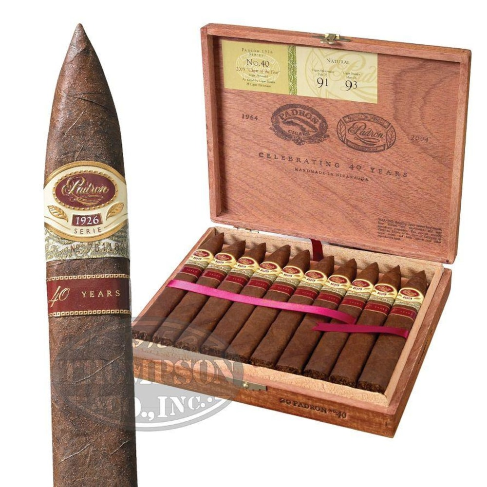 photo of Padron Serie 1926 40th Anniversary Natural Torpedo - PACK (5) by Thompson Cigar