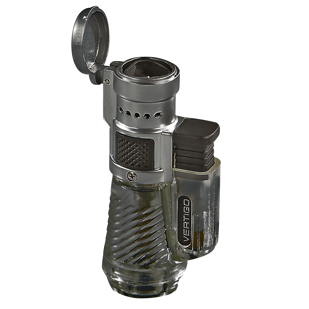 photo of Cyclone Triple Torch Lighter Gray Finish - Black by Thompson Cigar