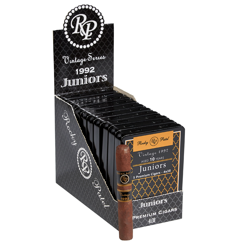 photo of Rocky Patel Vintage 1992 Juniors 10 Year Sumatra Cigarillo - PACK (50) by Thompson Cigar