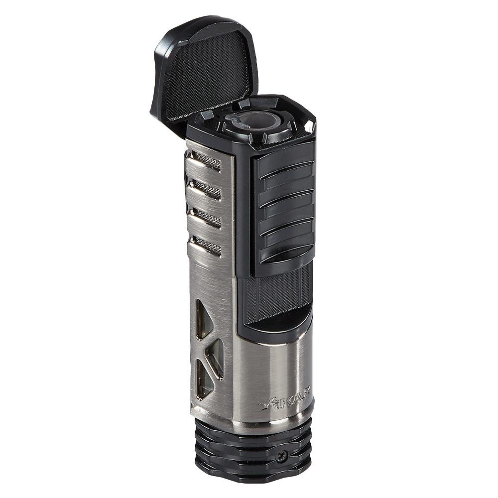 photo of Xikar Tactical Lighter Single Flame Black and Gunmetal - Black/Gunmetal by Thompson Cigar