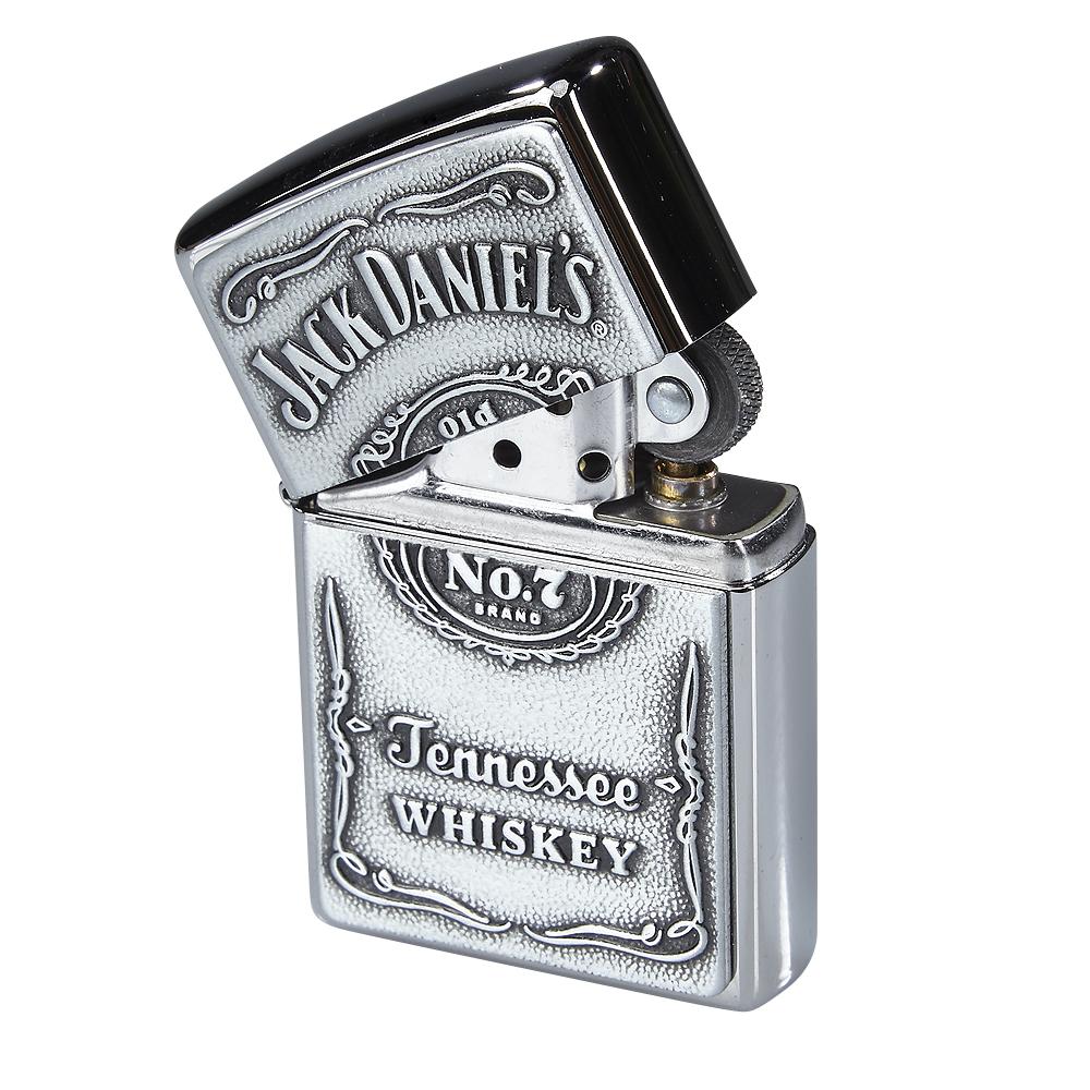 photo of Zippo Jack Daniels Label-Pewter Emblem Lighter - Chrome by Thompson Cigar
