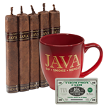 Java Cigar and Mug Combo  5 Cigars