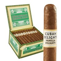 "Cuban Delights Flavors Corona Natural Vanilla (5.5""x42) BOX (50)"