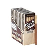 "Black & Mild Wine Wood Tip Natural Cigarillo Wine (Cigarillos) (5.0""x30) PACK (50)"